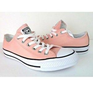 NWT Converse CTAS OX Vapor Pink Leather Low Top